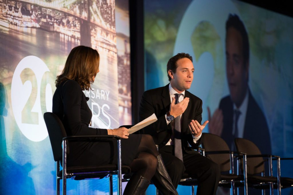A photo of Spencer Rascoff on stage at Inman Connect New York