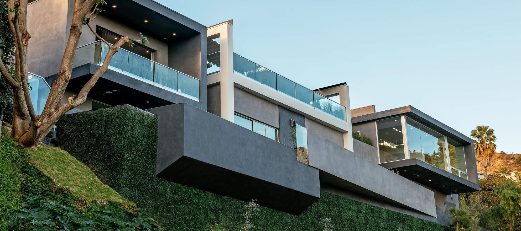 Luxury listing: artful architecture overlooking the city