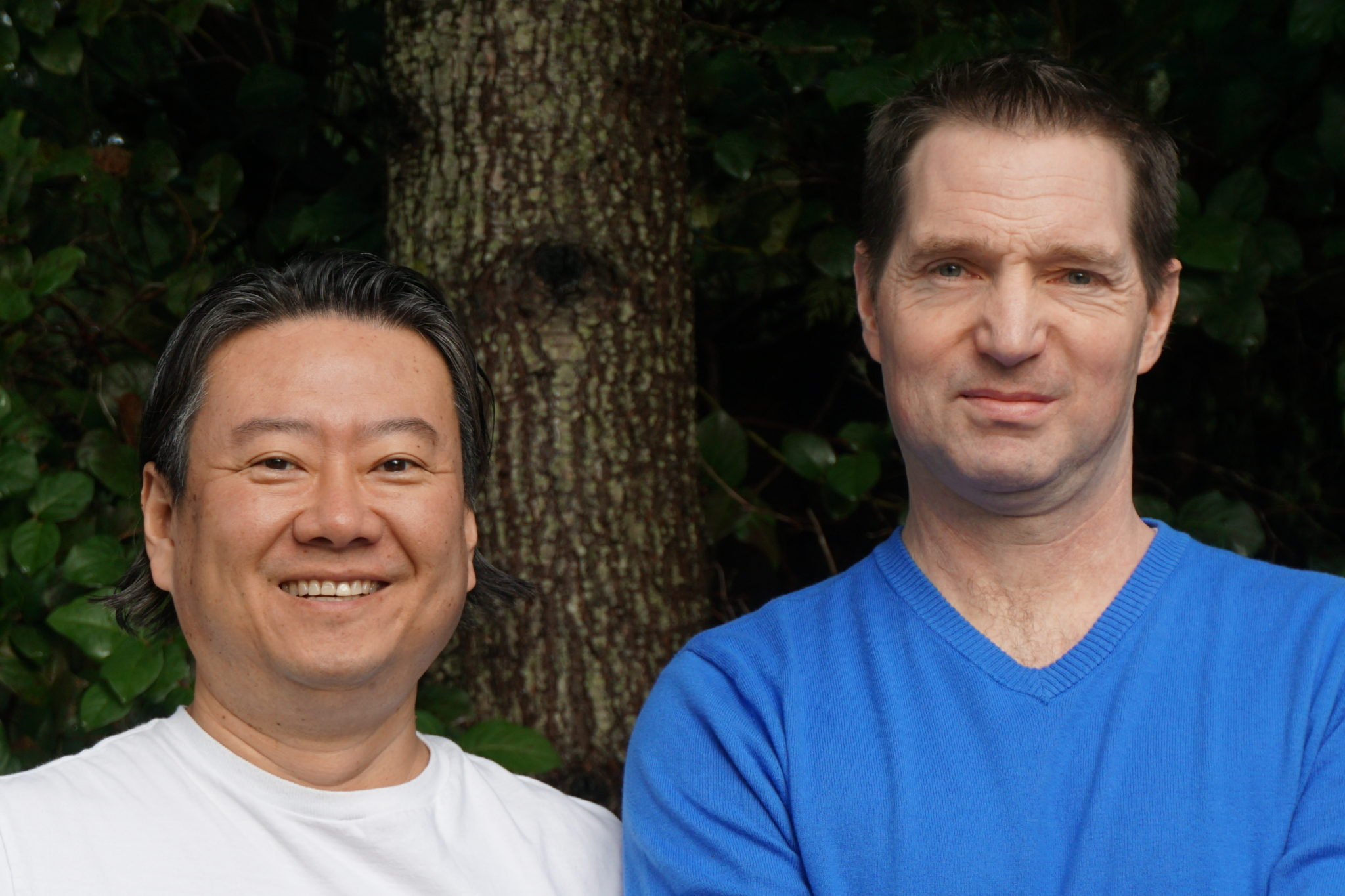 Left to right, Musong Kim and Jeff La Croix, founders.