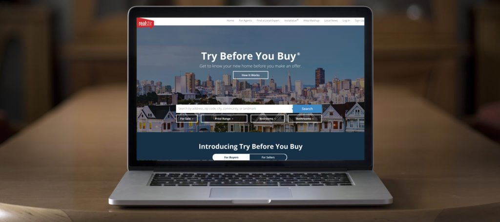 "A screenshot of the RealStir ""Try Before You Buy"" offer."