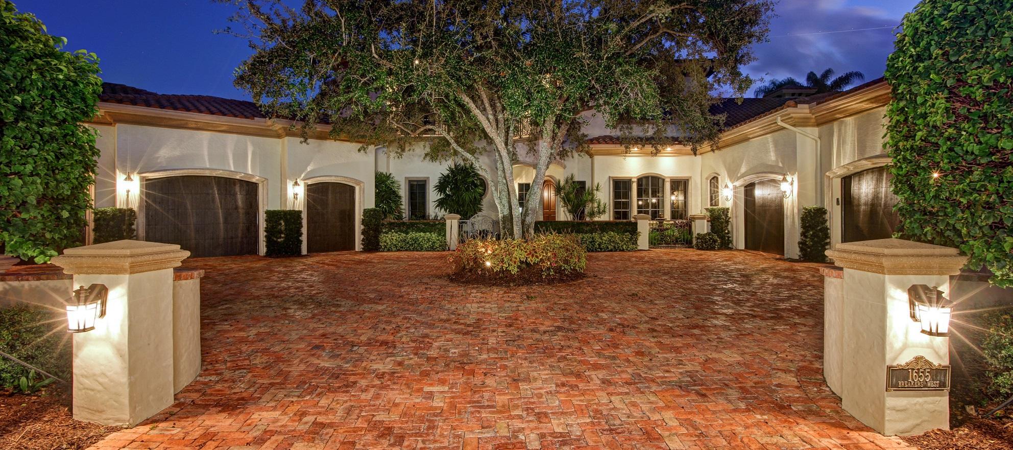 Luxury listing: Breakers West Mediterranean estate