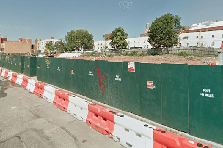 Prospect Plaza in 2014, pre-construction/Google Maps Screenshow