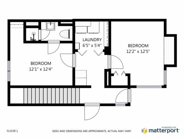 Matterport traditional floor plan example