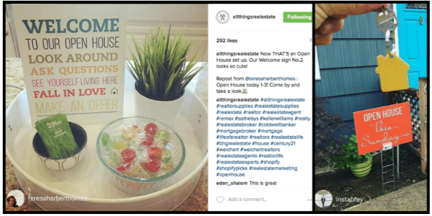 Follow @allthingsrealestate on Instagram to grab some open house inspiration!