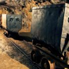 Mine carts in a mine
