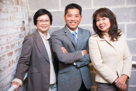 From left to right - Natalie Phan, Thai Hung Nguyen and Jessie Do.