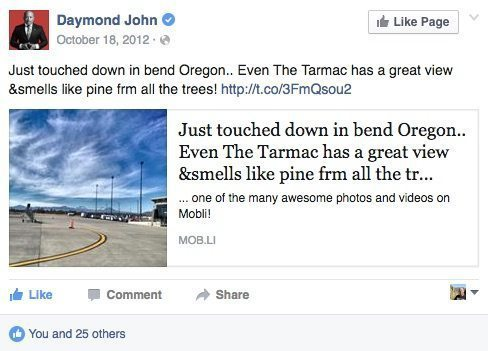 Dude forgot to capitalize the B in Bend. I forgive you, Daymond John!
