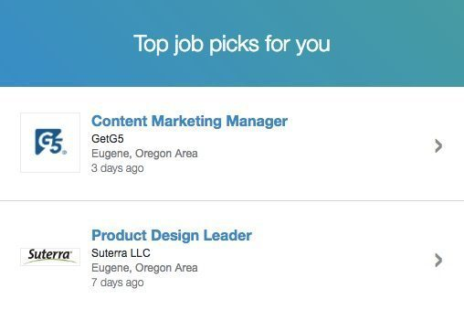 LinkedIn job list post