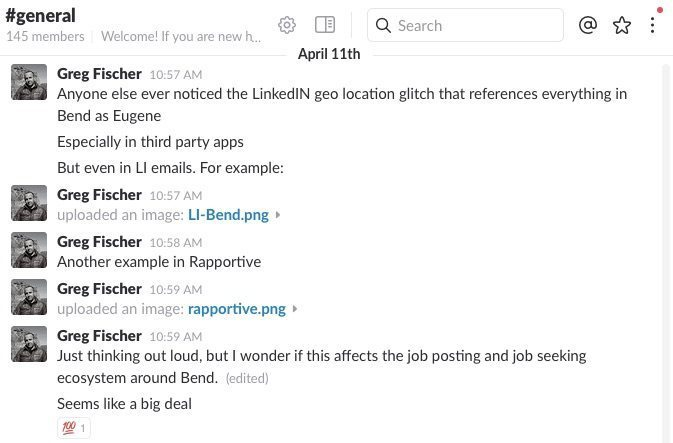 Much discussion has taken place, but in the interest of privacy I've only screenshot my own comments from Slack