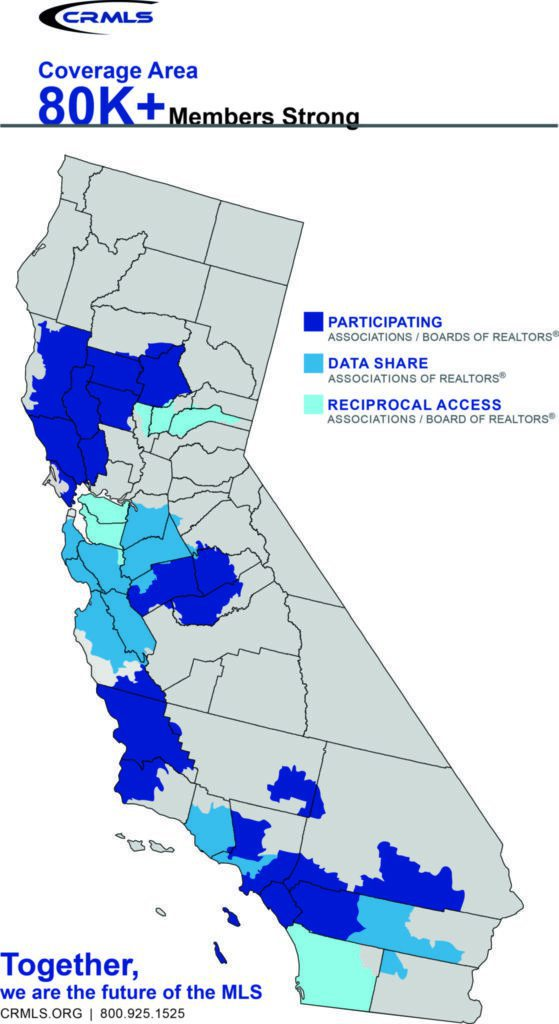 CRMLS coverage map