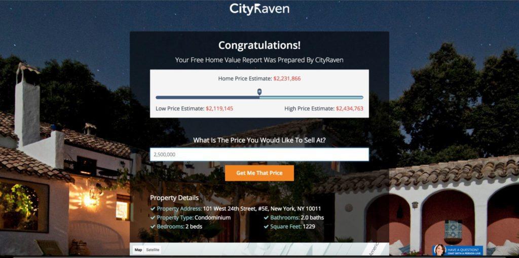 CityRaven_ValuationPage