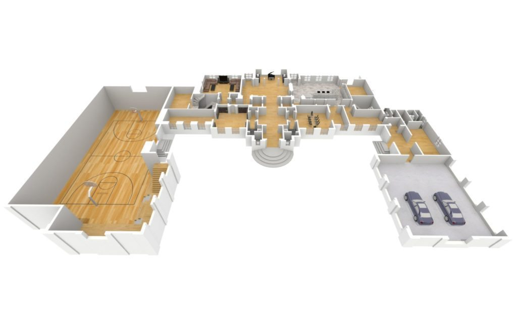 BuzzBuzzHome's 3-D floor plan of the Drizzy Manor.