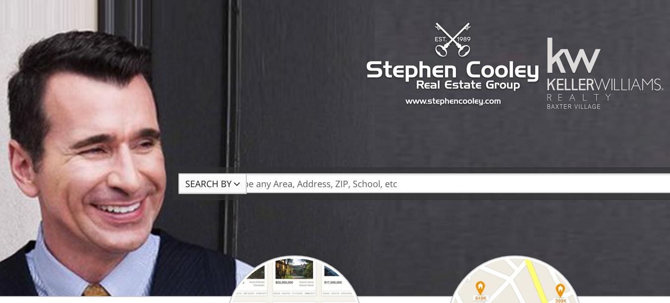 Screen shot of home page of stephencooley.com.