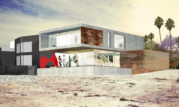 Eve Plumb house, exterior render meis architects