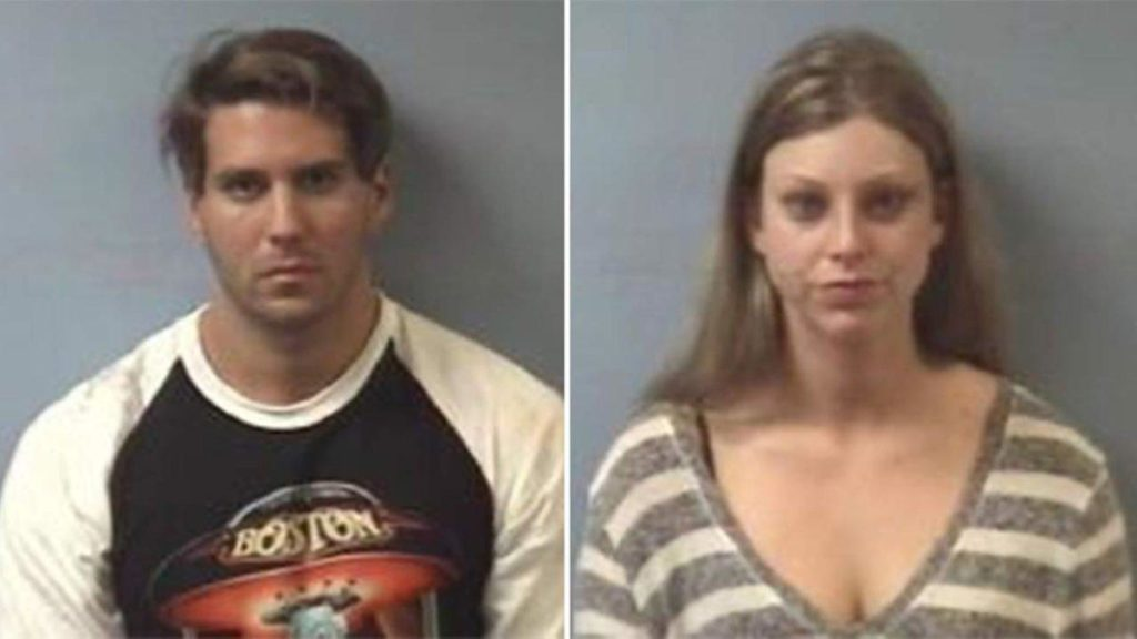 Joshua Leal and Marissa Seloff's booking photos. (Photo credit: Friendswood PD)