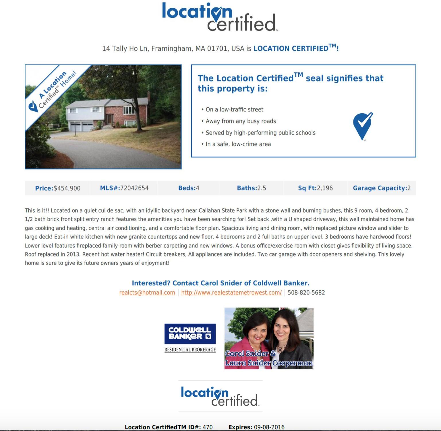 location certified flyer