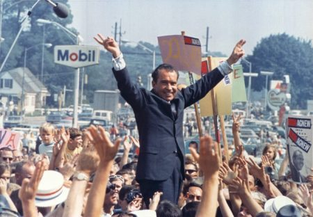 Richard Nixon during the 1968 Presidential election.