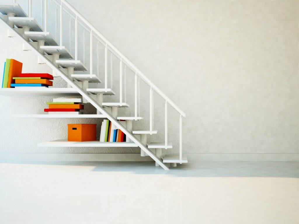 Storage space under stairs