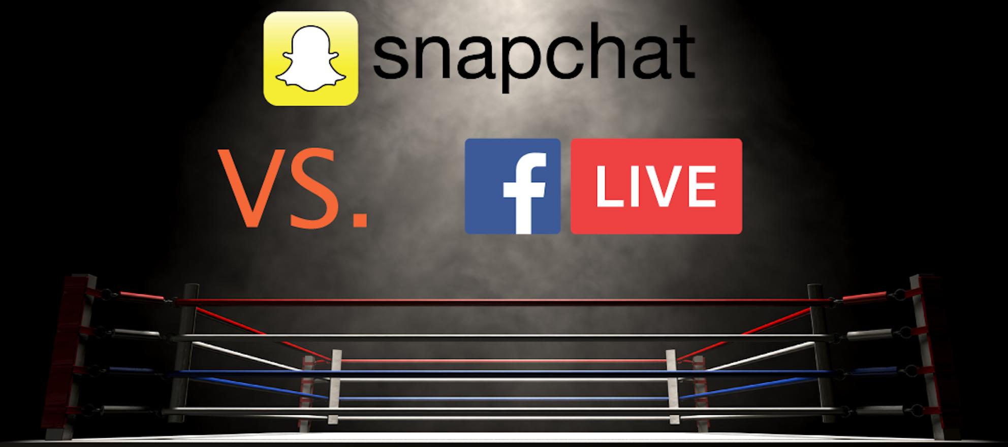 facebook live snapchat real estate