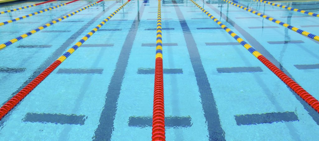 Competition swimming lanes