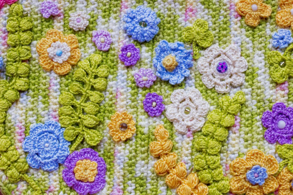 A crocheted wall hanging