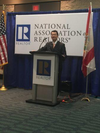 Lawrence Yun at the NAR media briefing