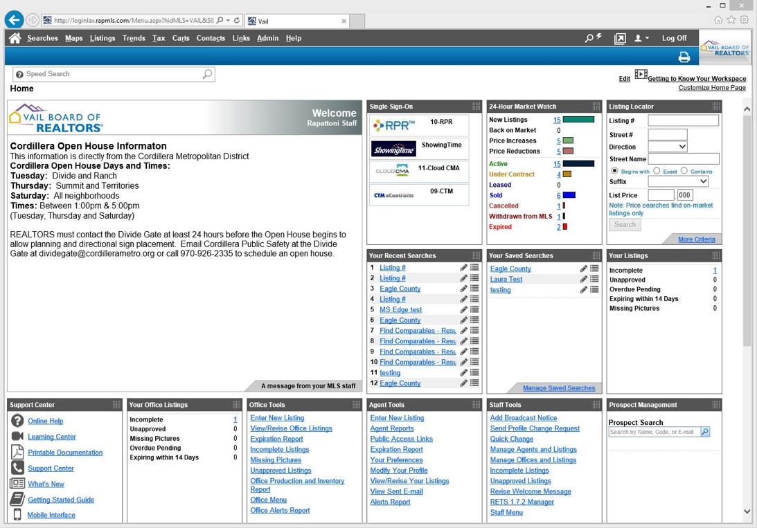 Rapattoni MLS new home page