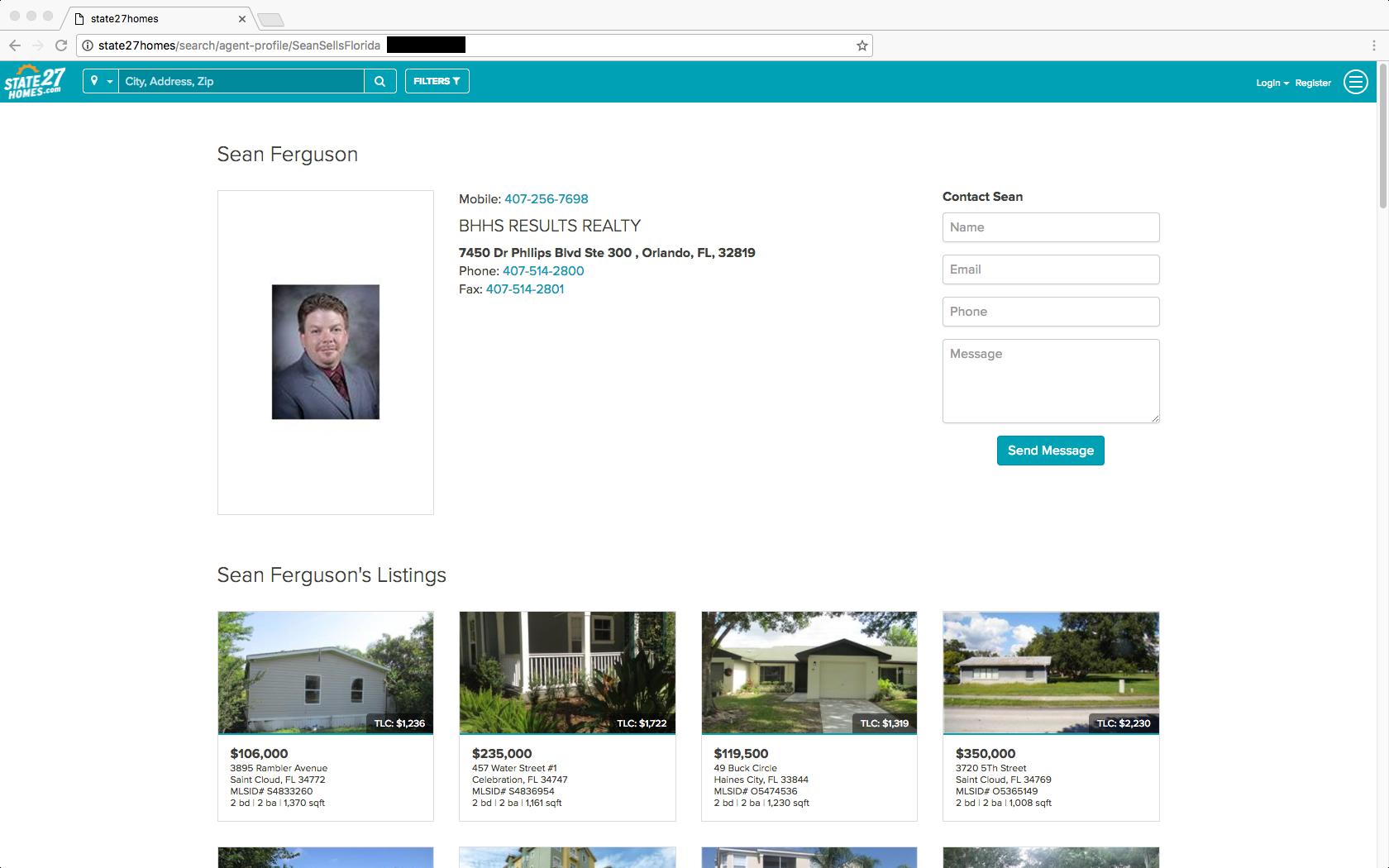 State27Homes.com agent profile