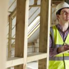 A home inspector in a new property