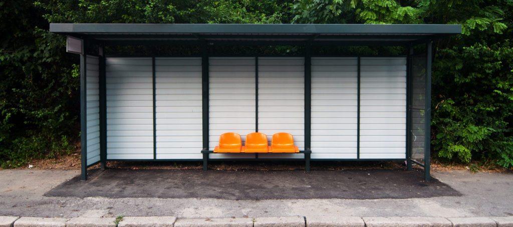 A bus bench