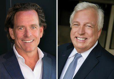 Pacific Union CEO Mark McLaughlin and John Aaroe Group president John Aaroe