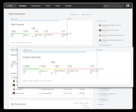 Hubspt CRM Deal interface