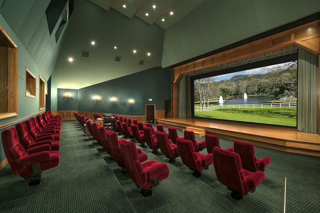 The movie theater at Sycamore Ranch (formerly known as Neverland Ranch)