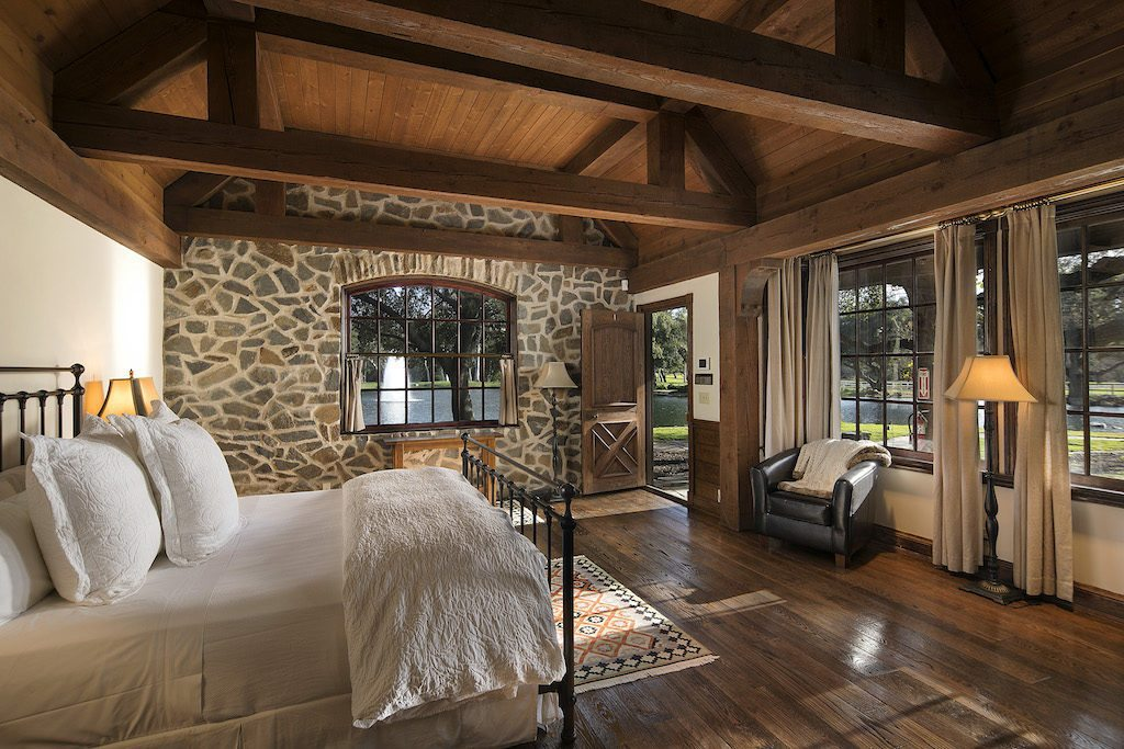 A bedroom at Sycamore Ranch (formerly known as Neverland Ranch)