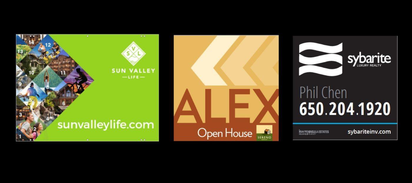 real estate yard sign design