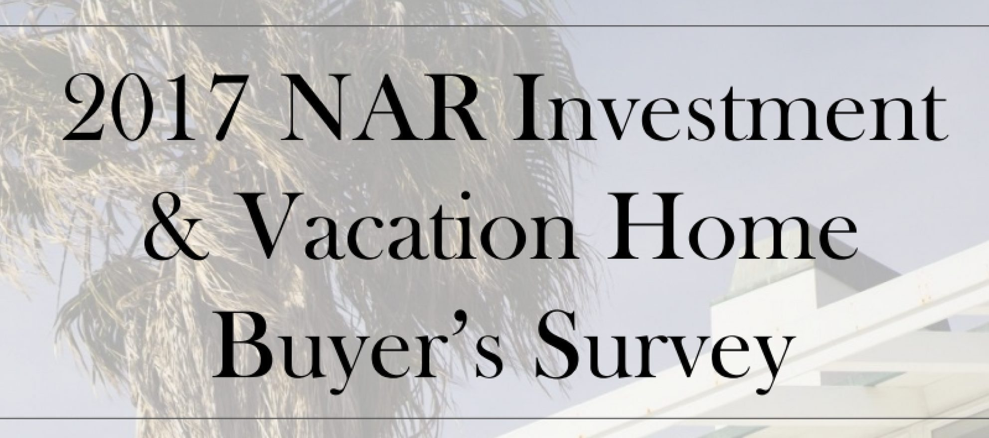 NAR vacation home sales 2017