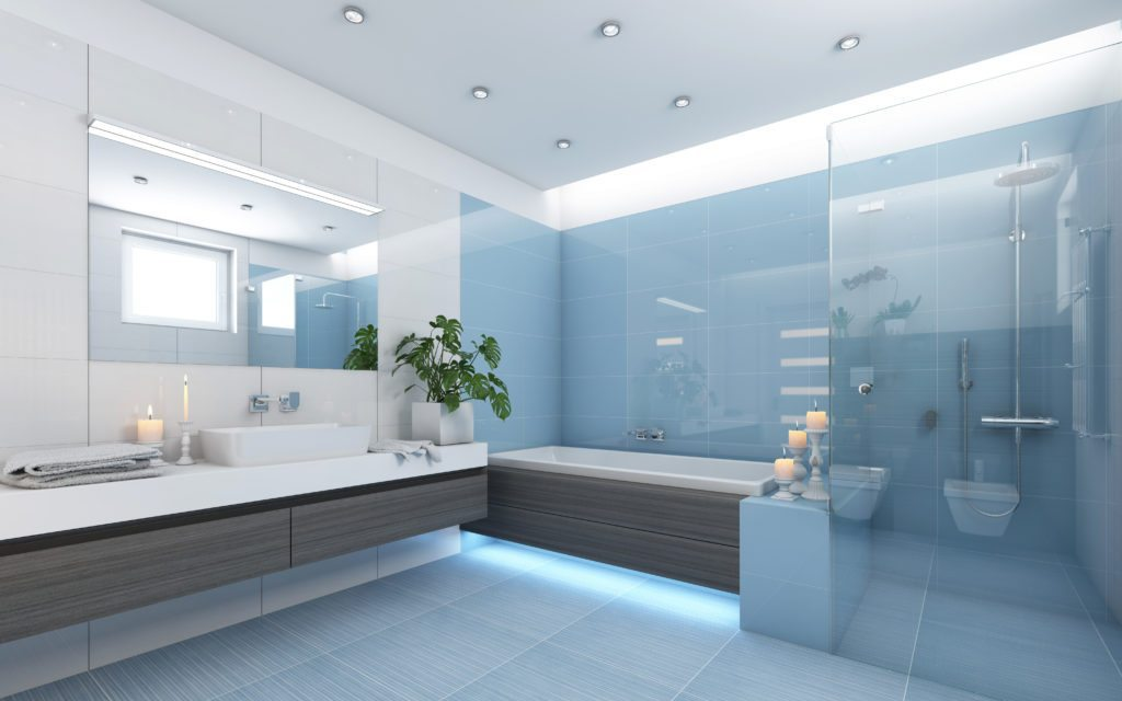 Blue Color Bathroom Homes With This Color Bathroom Sell For $5,400 More: Zillow