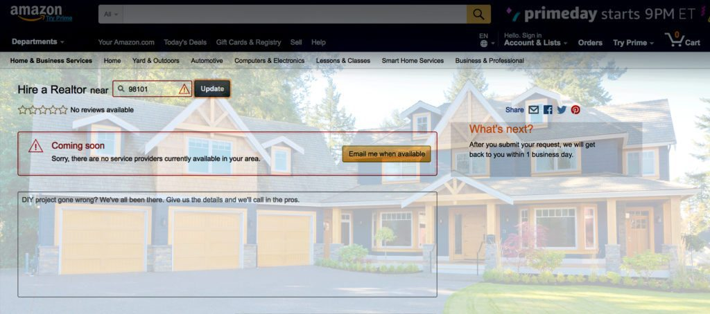 amazon real estate referral service