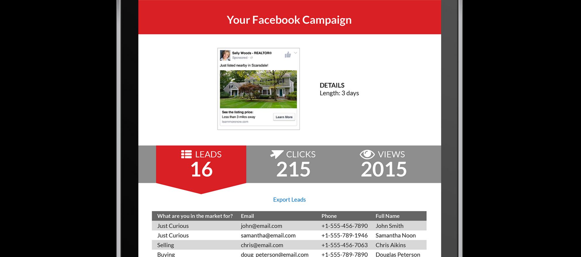 TriggerMarketing Social Open House marketing