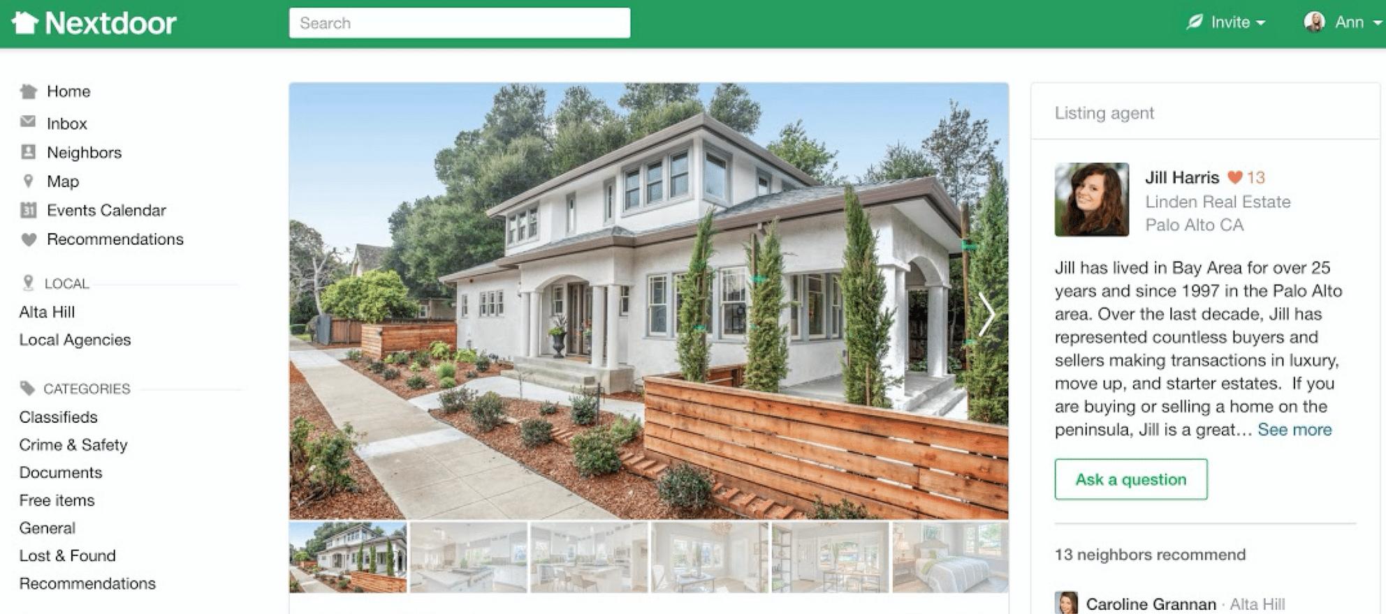 nextdoor real estate