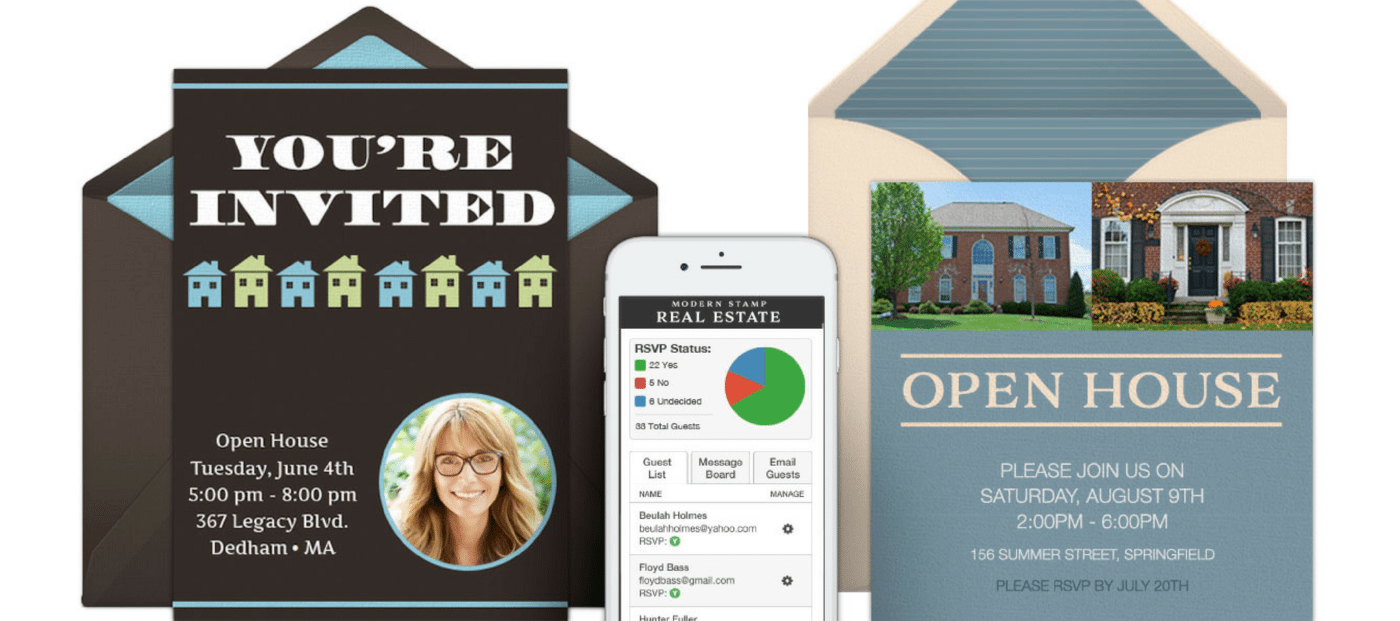 Custom digital invites made for real estate: Introducing Modern Stamp