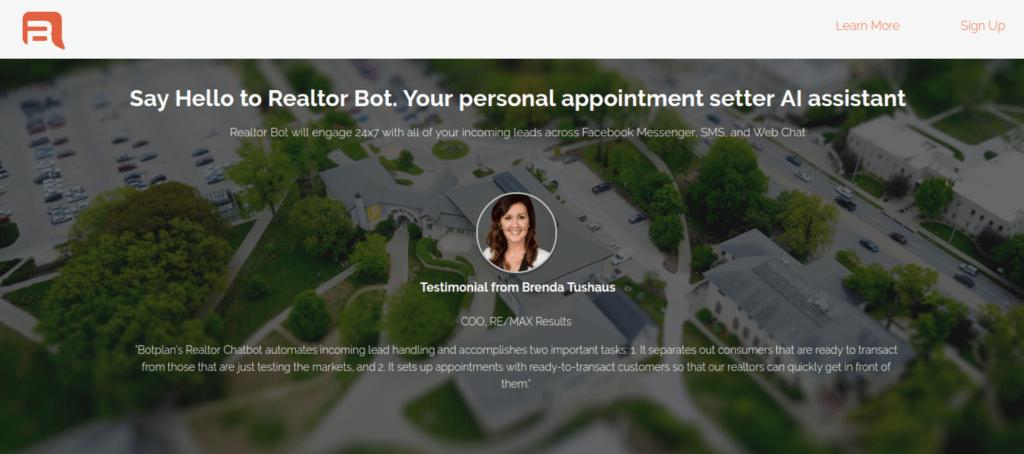 Botplan's Chatbot for Realtors