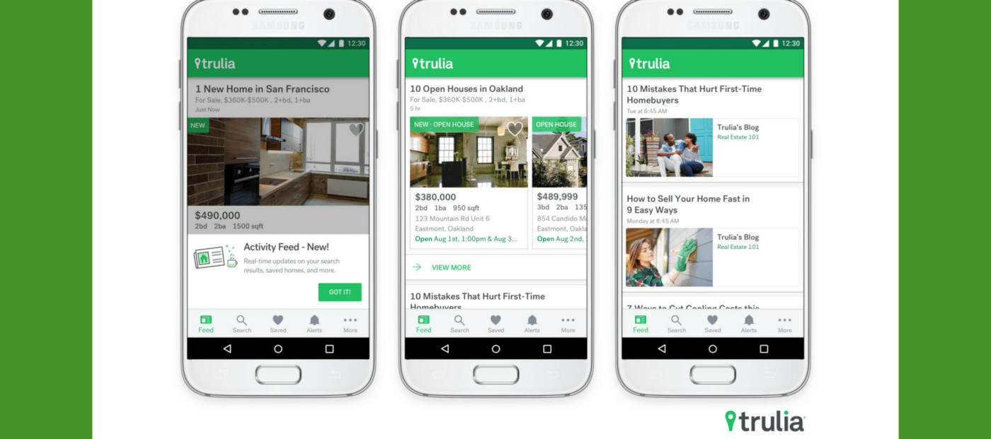 Trulia adds personalized 'Activity Feed' to mobile apps
