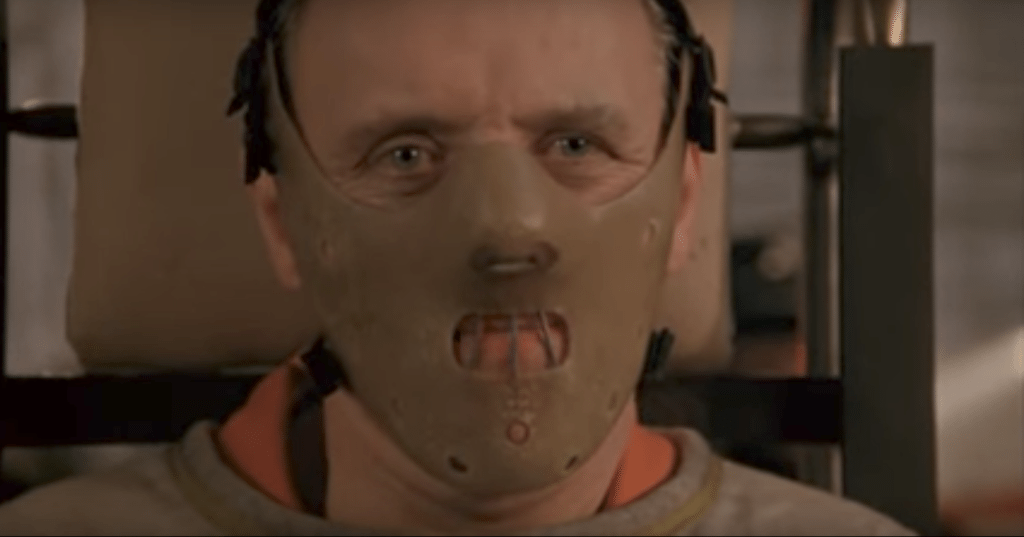 Anthony Hopkins as Hannibal in 'Silence of the Lambs'