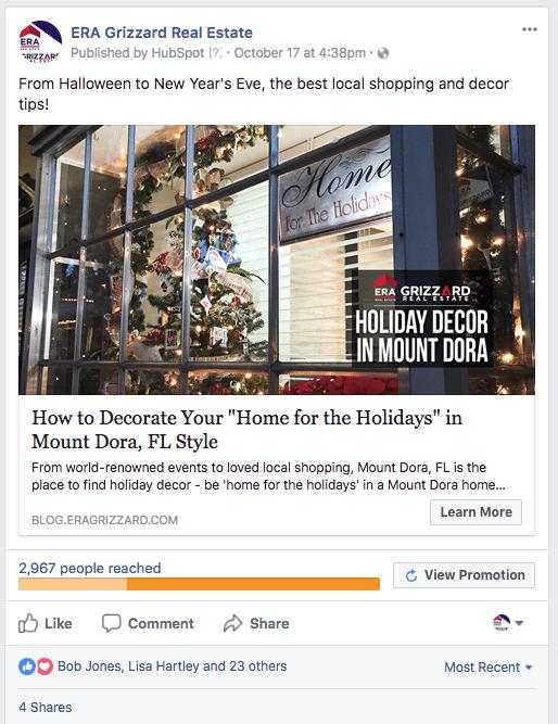 ERA Grizzard Facebook Marketing Holidays