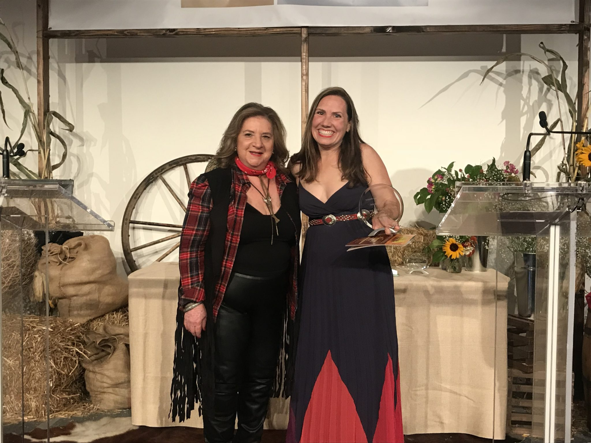 REBNY award winner Joanna Mayfield Marks and Corinne Pulitzer.