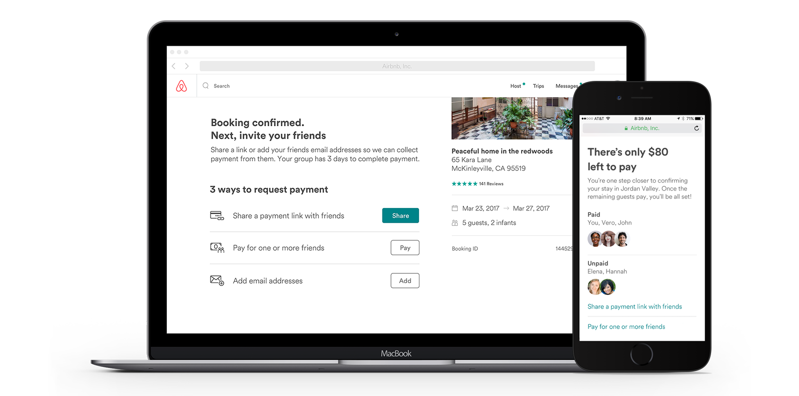 Aribnb split payment option