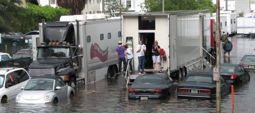 Flooding in South Beach, Miami