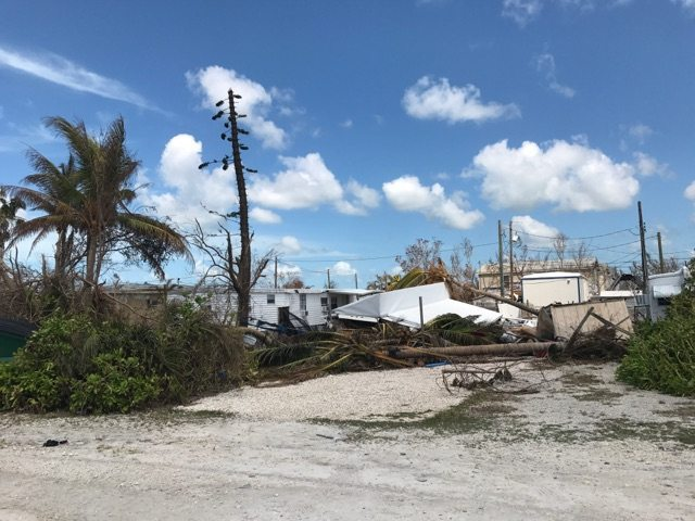 Hurricane Irma hit the Florida Keys, sparing some areas and devastating others