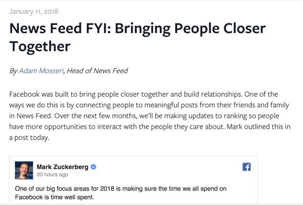 What The Facebook News Feed Change Means For Real Estate Pros